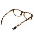 Fashionable Unisex PC Frame PC Lenses Plain Spectacles Glasses Eyeglasses - Leopard Print