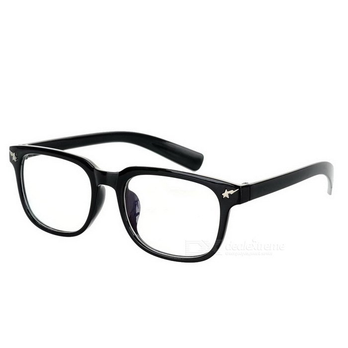 Fashionable Unisex PC Frame PC Lenses Plain Spectacles Glasses Eyeglasses - Black