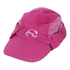 Wind Tour Outdoor 360 Degree Protection Quick-drying Breathable Anti-UV Sunhat - Dark Pink