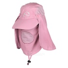Wind Tour Outdoor 360 Degree Protection Quick-drying Breathable Anti-UV Sunhat - Pink