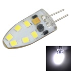 G4 regulable 3W 200lm 12-2835 SMD LED bulbo cristalino de la luz blanca fría - blanco + amarillo (12V)