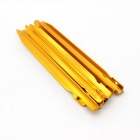 Sunfield 14T002 Outdoor Camping Aluminum Alloy Tent Pegs Stakes - Golden (10PCS)