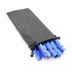 Sunfield 14T002 Outdoor Camping Aluminum Alloy Tent Pegs Stakes - Blue (10PCS)