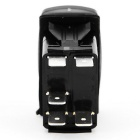 IZTOSS S016 DC 12V~24V Blue LED ON-OFF Rocker Switch for Marine RV Boat Car - Black
