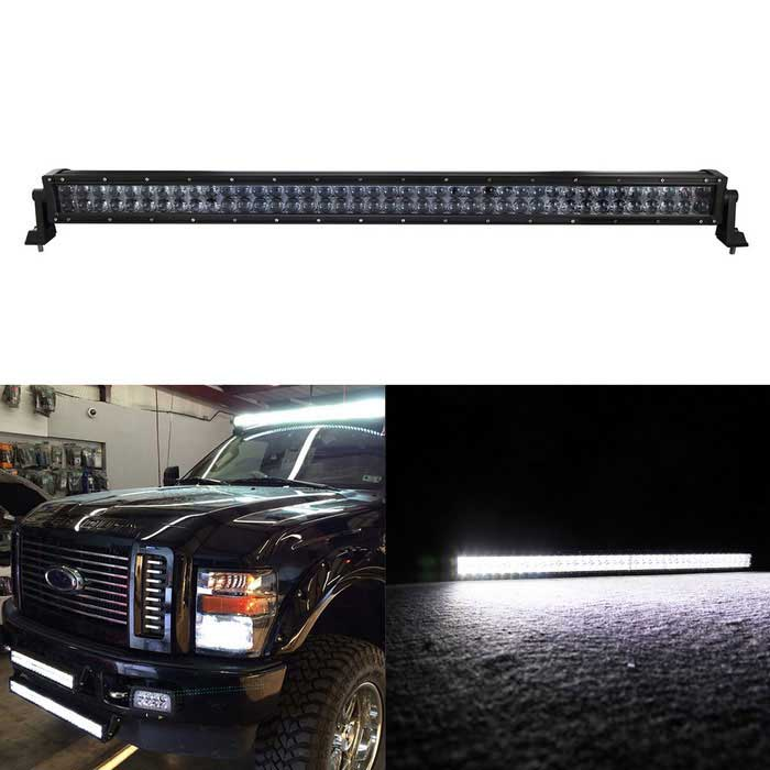 400W 80-LED Off-Road SUV Car Combo Beam Driving Lamp Work Light Bar - Sort