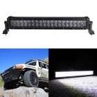 200W 40-LED White Light 6000K 17000lm UTV Car Lamp Spotlight Work Light Bar - Black