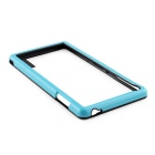 Stylish TPU Protective Frame Case for Sony Z3 - Black + Blue
