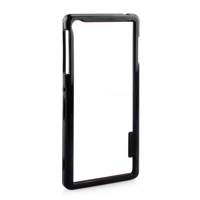 Stylish TPU Protective Frame Case for Sony Z3 - Black