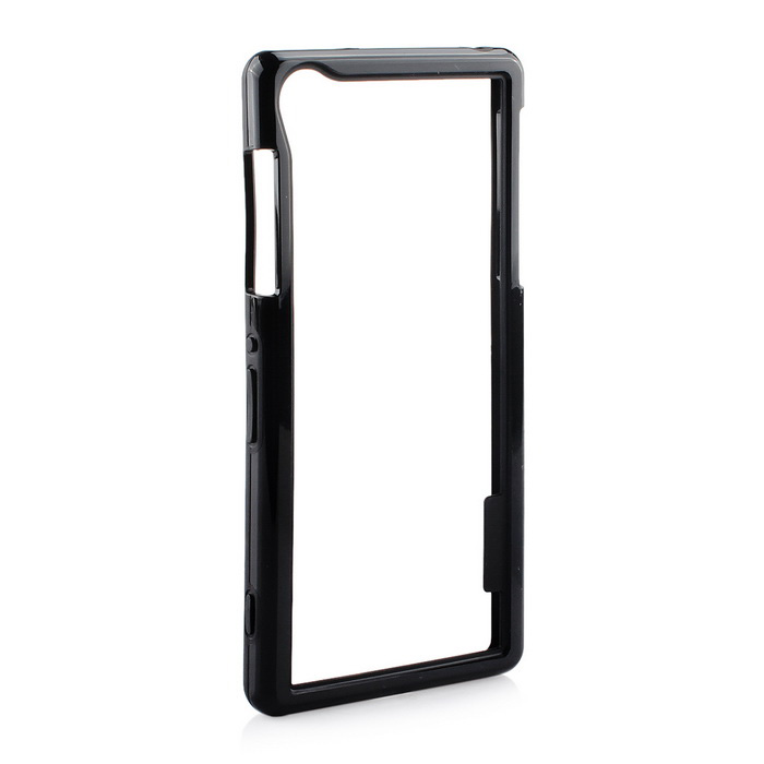 Stylish TPU Protective Frame Case for Sony Z2 - Black