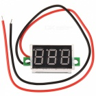 "HZDZ-V20D 0.36"" LED 3-Digit Voltmeter - Black + Green + White (DC 2.7~30V)"