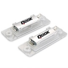 Qook 18-3528 SMD LED 120lm 6500K White Number License Plate Lights Lamps for VW Caddy 04 (2PCS)