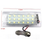 Qook 18-LED 6500K White License Plate Lights Lamp Bulb for BMW E53 X5 1999-2006 - Transparent (2PCS)