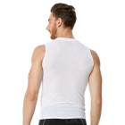 NUCKILY Men's Outdoor Cycling Quick-drying Breathable Base Shirt Vest - White (M)