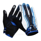 NUCKILY PD06 Outdoor Cycling Anti-Slip Touch Screen Full-Finger Gloves - White + Blue (XL / Pair)