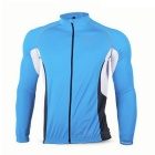 NUCKILY MH008 Quick-drying Reflective Cycling Jersey - Blue +Black (L)