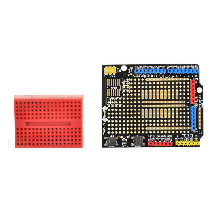 Protoype Shield Expansion Board for Arduino - Blue + Red + Multi-Color