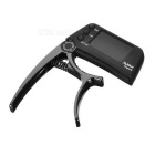 "Meideal TCapo20 1.5"" LCD Capo & Tuner for Acoustic / Electric Guitar & Bass - Black"