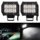 18W 6-LED Double-line Car DIY Work Light Bar Flood White 6000K 1530lm (DC 10~30V / 2PCS)