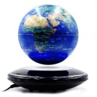 6-inch Magnetic Suspension Globe / Negative-Ion Anion Generator - Blue