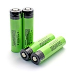 """3400mAh"" 18650 Li-ion Batteries Transparent  Anode Protection w/ Case- Green (4PCS)"