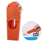 Flying Cap Beer Bottle Opener w/ Key Ring - Orange