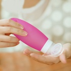 98ml Travel Refillable Leak-Proof Silicone Bottles - Pink (3PCS)