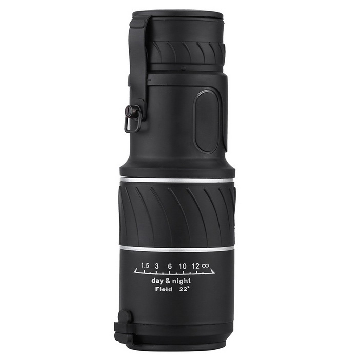 Single-tube 16X 52mm HD Green Film Optical Monocular Telescope 66/8000M for Outdoor Hunting CampingBinoculars And Telescopes<br>Form ColorBlackQuantity1 DX.PCM.Model.AttributeModel.UnitMaterialOptical glass &amp; RubberBest UseCamping,Mountaineering,TravelFeatureBird watching binocular,Show watching telescope,Landscape watching telescopeMagnificationOthers,16XObjective Diameter52mmWater ResistantNoEye Relief15.2cmPacking List1 x Monocular1 x Neckstrap1 x Mini Lens Cloth1 x Carrying Bag<br>