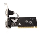 PCI Express to 2-Port DB-9 Serial (RS-232) Adapter Card - Black