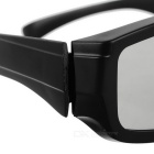 3D Virtual Reality Polarized Video TV Glasses for Konka, Skyworth, Hisense, TCL - Black