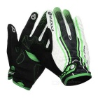 NUCKILY PD06 Touch Screen Full-Finger Gloves - White + Green (L)