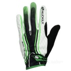 NUCKILY PD06 Outdoor Cycling Anti-Slip Touch Screen Full-Finger Gloves - White + Green (XL / Pair)