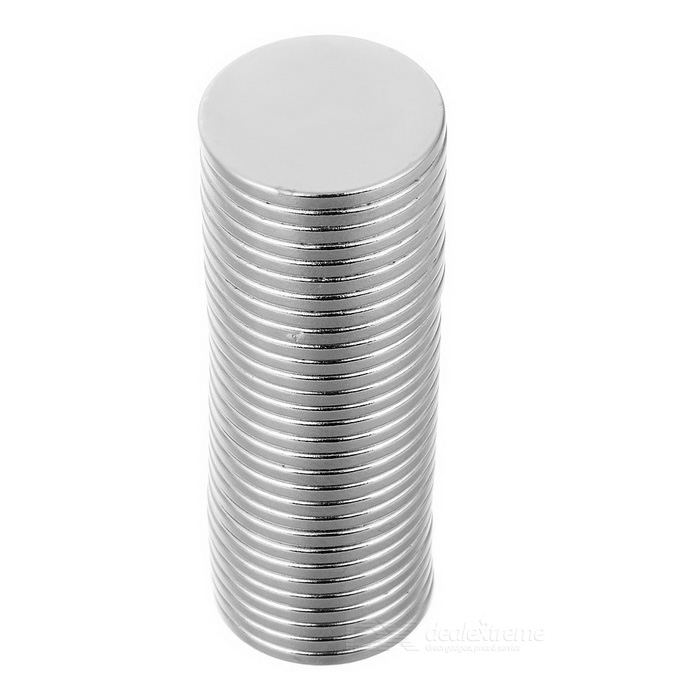 20*2mm Round NdFeB Magnet - Silver (30PCS)Magnets Gadgets<br>Form ColorSilverMaterialNdFeBQuantity1 SetNumber30Suitable Age 8-11 Years,12-15 Years,GrownupsPacking List30 x Magnets<br>