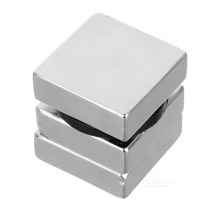 30 * 30 * 10mm Imán rectangular de NdFeB - Plata (3PCS)