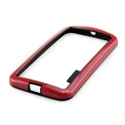 Stylish TPU Bumper Frame Case for MOTO G2 - Black + Red