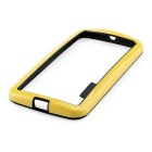 Stylish TPU Bumper Frame Case for MOTO G2 - Black + Yellow