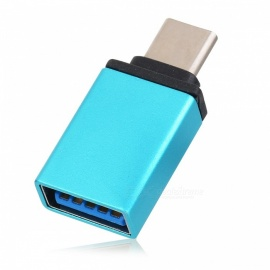 USB 3.1 Type C to USB 3.0 Adapter Converter w/ OTG - Light Blue