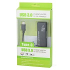 USB 3.1 Type-C to RJ45 1000M Ethernet Adapter Cable - Black