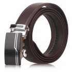 Fanshimite D02 Men's Automatic Buckle Cow Split Leather Belt - Brown (115cm)