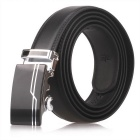 Mucca Split Leather Fanshimite uomo D02 Belt w / Buckle automatico - Nero (115 centimetri)