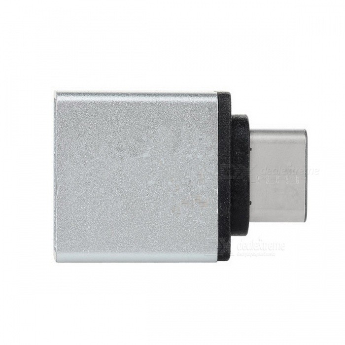 USB 3.1 Type C to USB 3.0 Adapter Converter w/ OTG - Silver WhiteLaptop/Tablet Cable&amp;Adapters<br>Form ColorSilver WhiteQuantity1 DX.PCM.Model.AttributeModel.UnitShade Of ColorSilverMaterialAluminum alloyInterfaceUSB 3.0,Others,USB 3.1 Type CTypeOthers,Laptops, tablet PCs, mobile phonesCompatible ModelAll devices with USB 3.1 Type CTransmission Rate10 DX.PCM.Model.AttributeModel.UnitPacking List1 x Adapter<br>