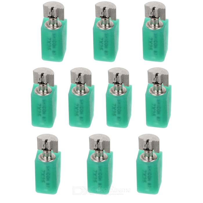 DIY Mini Vibrating Motors - Silver + Green (10PCS)