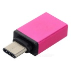 USB 3.1 Type C to USB 3.0 Adapter Converter w/ OTG - Deep Pink