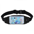 Outdoor Elastic Waterproof Cycling / Running Waist Bag - Black