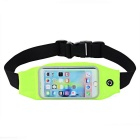 Elastic Waterproof Cycling / Running Waist Bag - Black + Light Green