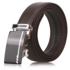 Fanshimite D03 Men's Automatic Buckle Cow Split Leather Belt - Brown (130cm)