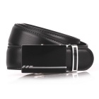 Fanshimite D03 Men's Automatic Buckle Cow Split Leather Belt - Black (115cm)