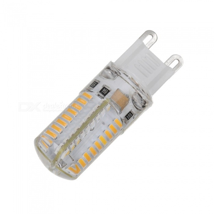 Marsing G9 Dimmable 7W LED Crystal Lamp Bulb Warm White 3000K 700lm 72-SMD 3014 (AC 220V)