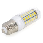E27 10W LED Bulb Lamp Warm White Light 3000K 900lm 56-SMD 5730 - White + Yellow (AC 220~240V)