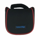 ismartdigi i204 Mini DSLR DV Camera Storage Bag for Nikon, Canon, Sony, Olympus - Black + Red