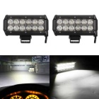 36W Flood 3600lm 12-LED White Dual-line Work Light Bar - Black (DC 10~30V / 2PCS)